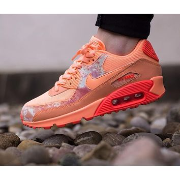 Best Online Sale Nike Air Max WMNS 90 Print Sunset Glow Hot Lava Running Shoes Sport