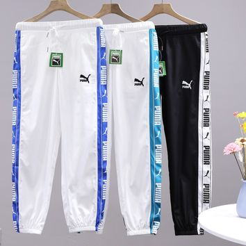 PUMA popular for casual couples with side webbed printed track pants