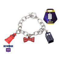 Doctor Who Toggle Bracelet with Dalek, Bow Tie and Tradis Charm