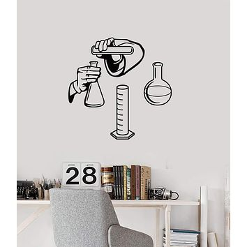 Vinyl Wall Decal Chemical Lab School Classroom Chemistry Interior Stickers Mural (ig5717)