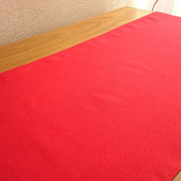 Red Solid Table Runner, Simple Table Runner, Decorative Table Runner, Modern Table Cover, Linen Tablecloth, Handmade Green Table Runner