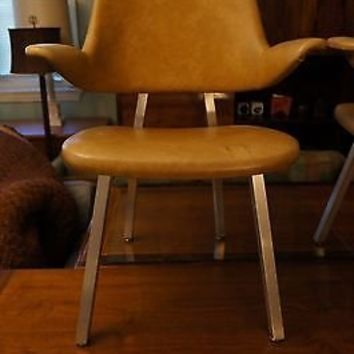 Rare Mid Century Modern Chair Pair Eames Evolved