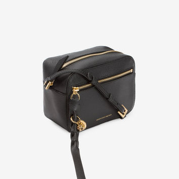 Grain Calf Leather Skull Camera Bag | Alexander McQueen