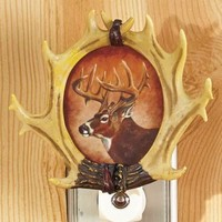 Deer 3D Rustic Sensor Night Light Country Bathroom Bedroom Hall Entry Home Decor