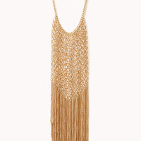 Luxe Fringe Bib Necklace