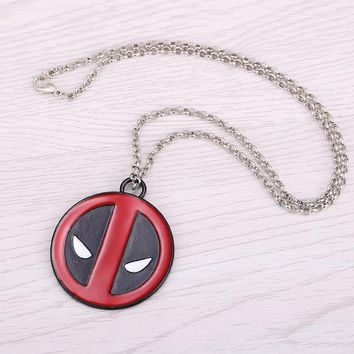 Deadpool Dead pool Taco H&F movie jewellry   logo charms necklace Vintage Fashion Round Dome Necklaces Jewelry AT_70_6