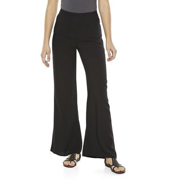 Mudd Wide Leg Challis Pants - Juniors, Size: