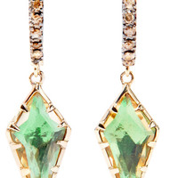Larkspur & Hawk - Caprice Kite 14-karat gold, citrine and diamond earrings