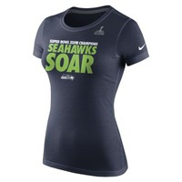 Nike Celebration Local NFL Seattle Seahawks Women's T-Shirt - Navy