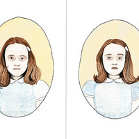 The Grady Twins the Shining watercolour portrait by ohgoshCindy