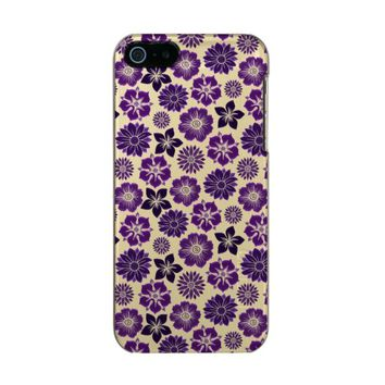Pretty Pink Purple Floral Flower Pattern Incipio Feather® Shine iPhone 5 Case