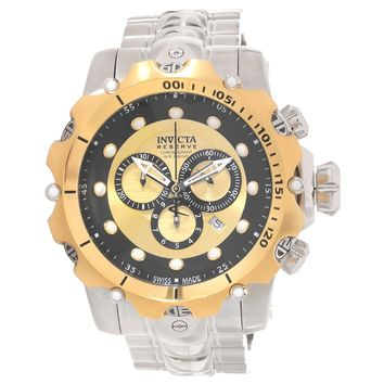 Invicta 14400 Men's Venom Gen. II Chronograph Black & Gold Dial Stainless Steel Bracelet Dive Watch