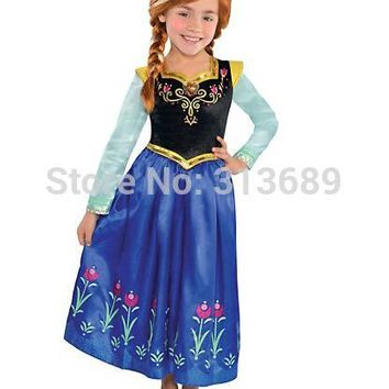 toddler girls elsa anna dress easter rapunzel dresses christmas costume kids Children Clothing sequined flower infantil vestidos