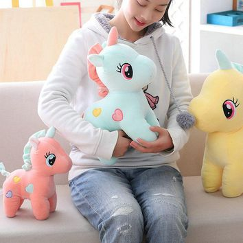 Cute Stuffed Unicorn Plush Toy Soft Toys Simulation Animals Pillow Kawaii Unicornio Bedroom Decor Appease Toys for Children Gift