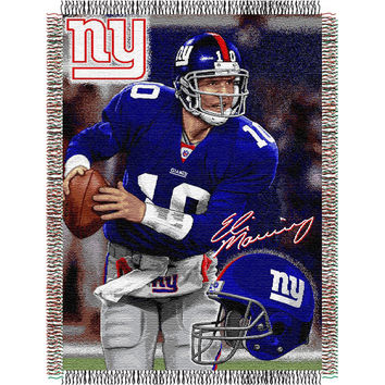 Eli Manning #10 New York Giants NFL Woven Tapestry Throw (48x60)