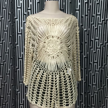 Crochet Cover Up (Cream)