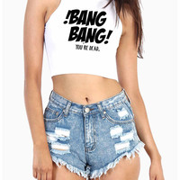 Bang Bang Jessi J Ariana Grande Nikki Minaj Ladies American Apparel Crop Top