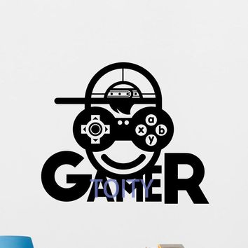 Gamer Wall Decal Video Game Vinyl Sticker Kids Gaming Decor Poster Mural  H57cm x W68cm