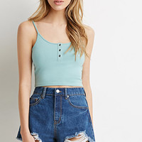 Buttoned Cami Crop Top