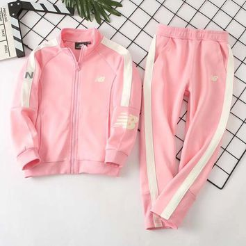 New Balance Girls Boys Children Baby Toddler Kids Child Fashion Casual Cardigan Jacket Coat Pants Trousers Two Piece Set