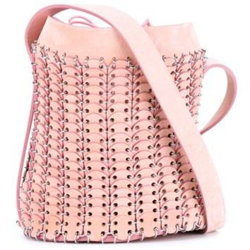 PACO RABANNE   Suede Chainmail Bucket Bag   brownsfashion.com   The Finest Edit of Luxury Fashion   Clothes, Shoes, Bags and Accessories for Men & Women
