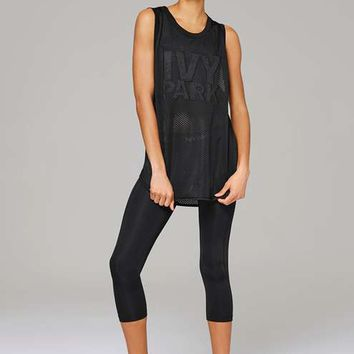 All-Over Mesh Longline Tank by Ivy Park - Ivy Park - Clothing