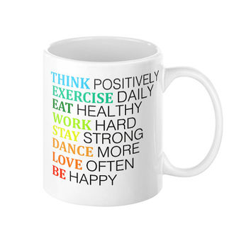 Coffee Mug with quote, Healthy Coffee Mugs, Healthy Lifestyle, Fitness quote