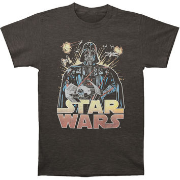Star Wars Men's  Ancient Threat T-shirt Charcoal Heather Rockabilia