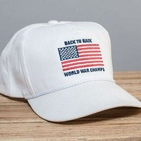 Back to Back World War Champs Rope Hat in White by Rowdy Gentleman