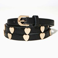 Golden Heart Skinny Belt