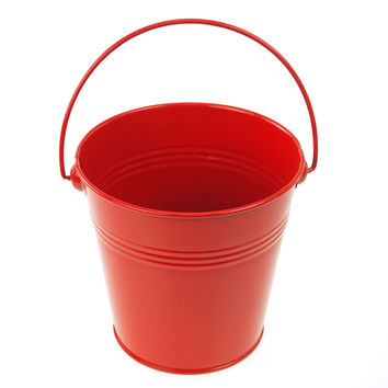 Metal Pail Buckets Party Favor, 5-inch, Red