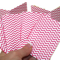 Chevron Note Pads in Pink - Party Favors - Teachers Gifts - Set of 20