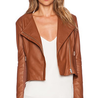 VEDA Dali Classic Smooth Jacket in Brown