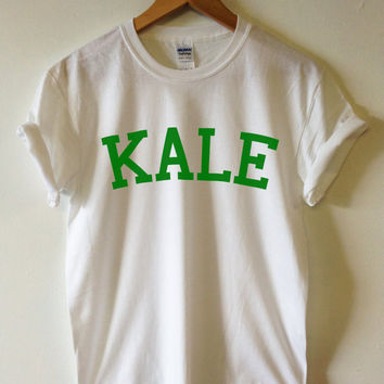 KALE T-shirt High Quality SCREEN PRINT for Retail Quality Print Soft unisex Ladies Sizes. Worldwide Shipping S-2xl Vegetarian Organic