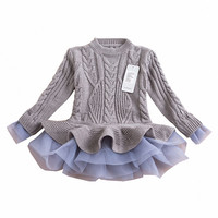 "The ""Lana"" Sweater Tutu Dress in Gray"