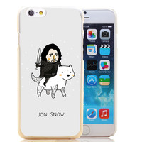 874-HOQE jon snow game of throne hellip Transparent Hard Case Cover for iPhone 6 6s plus 5 5s 5c 4 4s Phone Cases