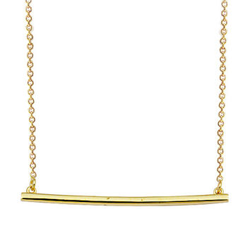 Stick Bar 14k Solid Gold Necklace Best Price