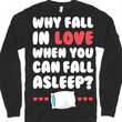 Why Fall In Love-Unisex Black T-Shirt
