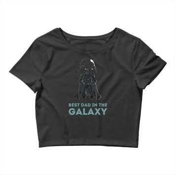 best dad in the galaxy Crop Top