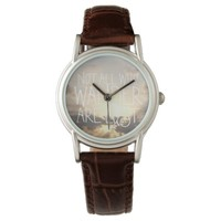 World traveler quote saying landscape clouds photo watch