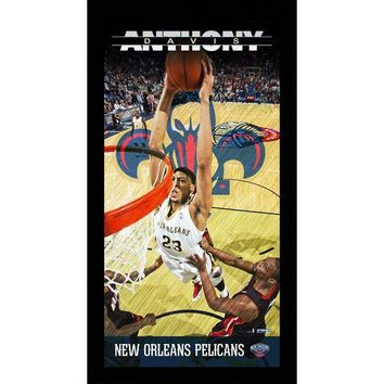 NOVO5 Anthony Davis New Orleans Pelicans Player Profile Wall Art 9.5x19 Framed Photo