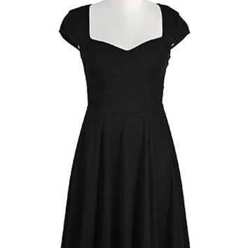 Seamed empire cotton knit dress