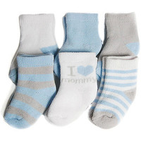 Walmart: Child of Mine by Carters Infant Baby Boy Terry Crew Socks, 6 Pairs