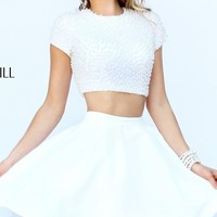 Short Two Piece Dress with Short Sleeves by Sherri Hill