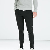 Seamed pocket trousers