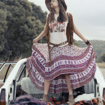 Castaway Skirt - Berry Gypsy Love | Spell