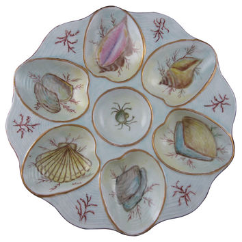 Hand-Painted Oceanic Oyster Wall Plate
