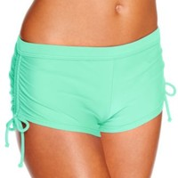 Hula Honey Side-Tie Boyshorts Swim Bottom - Swimwear - Women - Macy's