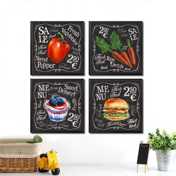 Fresh Vegetables Shop Wall Art Canvas Painting Sweet Pepper Print Poster Restaurant Kitchen Wall Picture Decor Print HD2440
