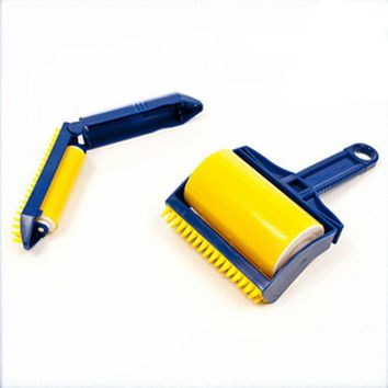 VONC1Y 2PCS/set Reusable Sticky Buddy Picker Cleaner Lint Roller cat/dog Hair Remover Brush cleaning brush dust